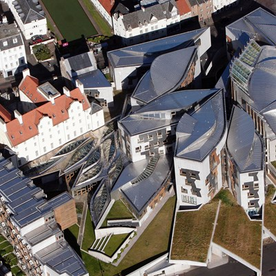 Birdseye view of Scottish parliament