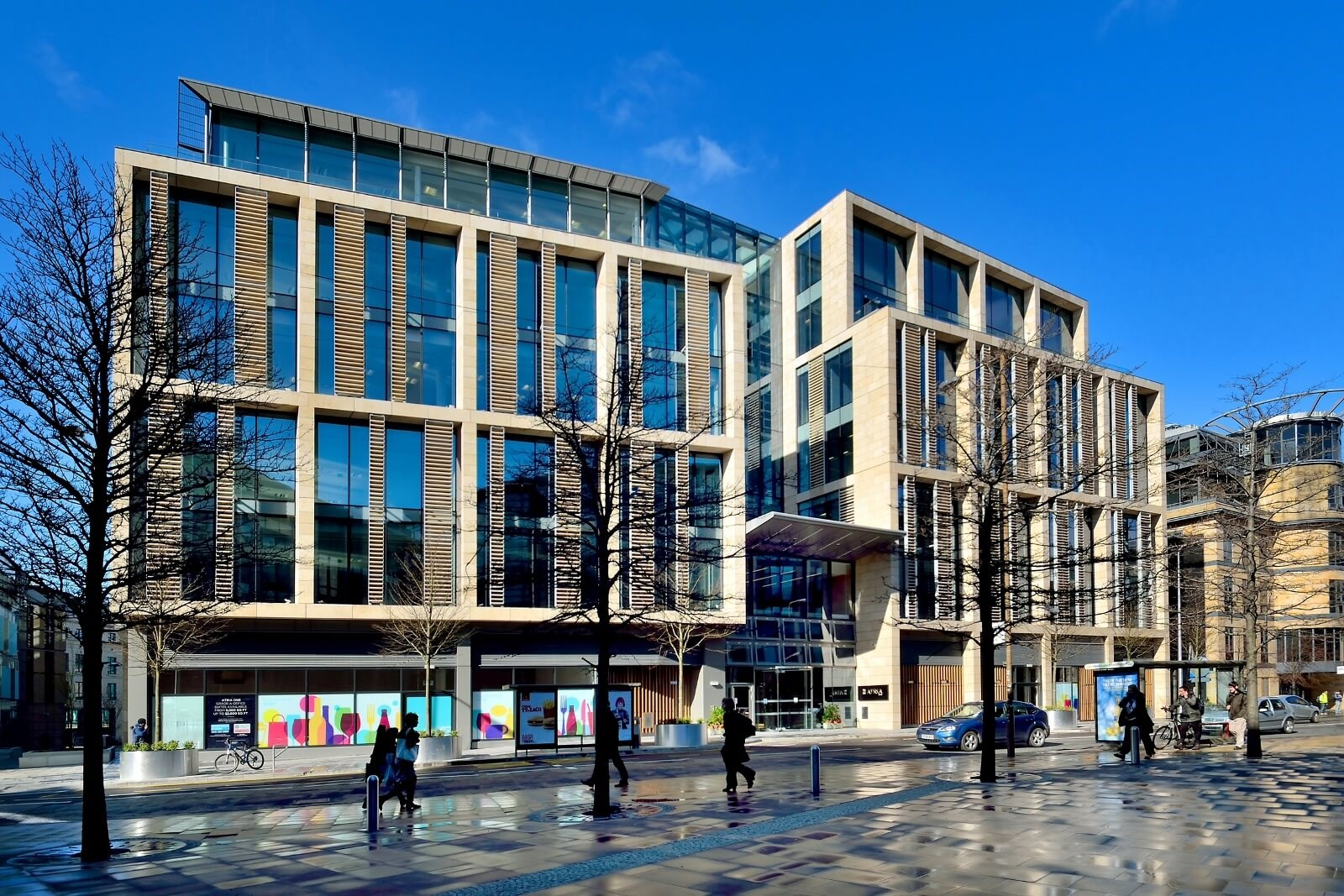 An outside view of the Atria One building in Edinburgh