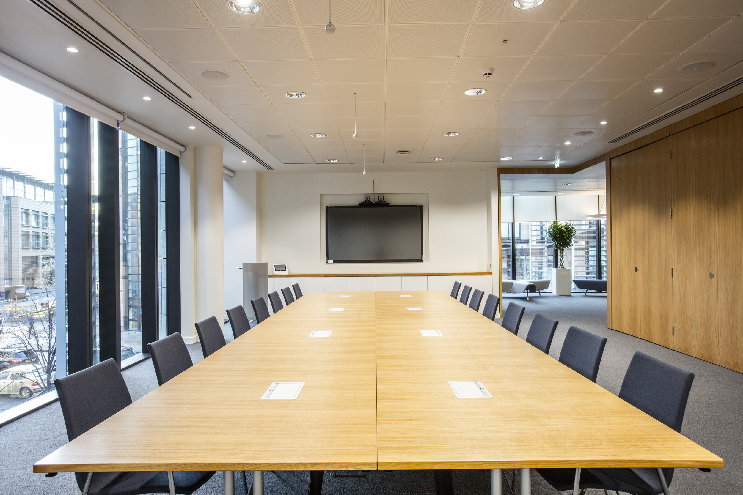 Venue Hire Conference Centre At Atria One Law Society Of Scotland - Conference room table set up
