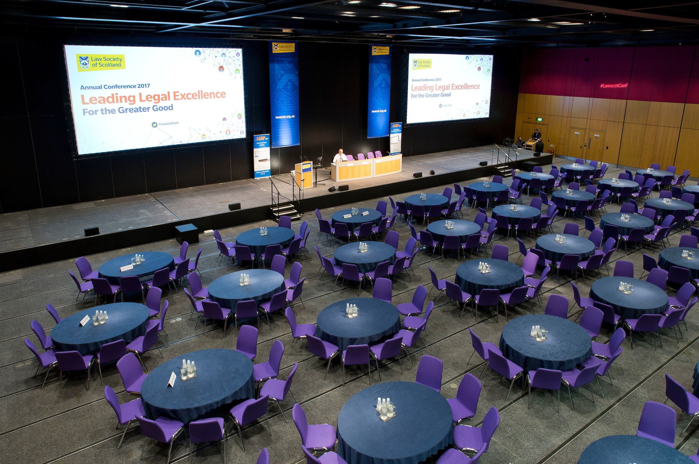 The Edinburgh International Conference Centre set-up for our 2017 Annual Conference