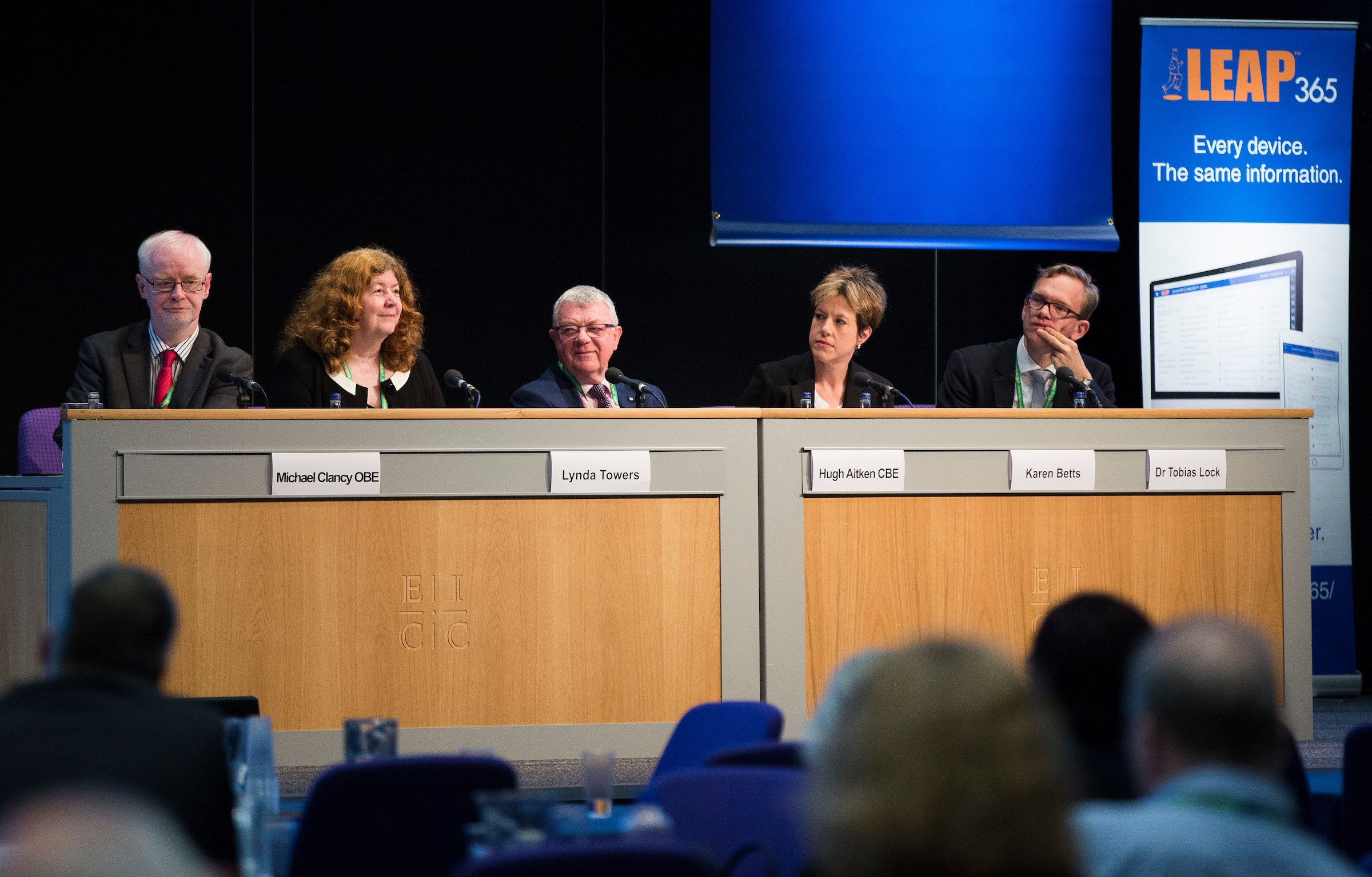 Michael Clancy, Lynda Towers, Hugh Aitken, Karen Betts and Dr Tobias Lock discuss the challenges of Brexit