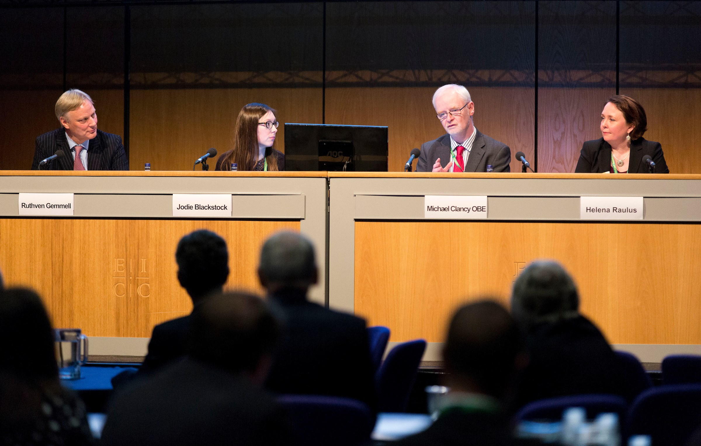 The impact of Brexit on the justice system panellists Ruthven Gemmell, Jodie Blackstock, Michael Clancy and Helena Raulus