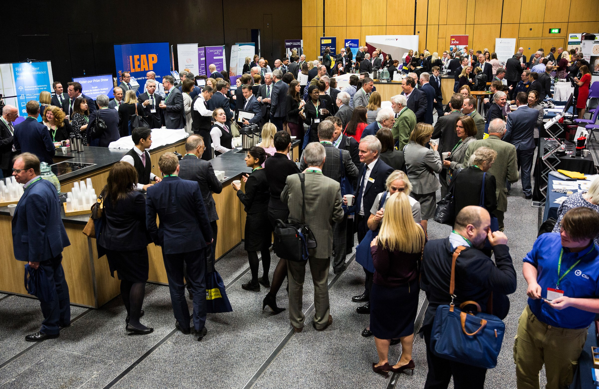 Refreshments and networking in the exhibition area