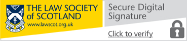 Law Society branded secure digital signature logo
